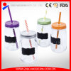 Wholesale Ice Drink Jars Glass Mason with Blackboard and Straws