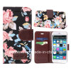 Fashion Flowver Canvas and PU for iPhone 6 Case (KCI31-1)