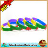 Segmented Color Silicone Wristband with Debossed (TH-0339)