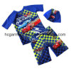 Kids Boy Swimming Suit. Car Printed T-Shirts and Pants