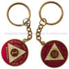 Zinc Alloy Material & Gold Plating Customized Keyring