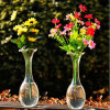 Hand Blown Transparent Flower Glass Vase/Crystal Vase