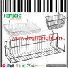 Gridwall Hanging Steel Wire Basket Display for Supermarket Racks