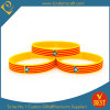 China Fashion Style Horizontal Strips Silicone Wristband at Factory Price