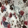 2016 Poly Velvet Floral Printed Knitted Fabric Textile