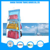 Transparent PVC and Non-Woven Blue Hanging Pocket Organizer Storage Bag