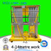 The Double Mast 4 6/8/10/12-200s Hydraulic Lift Aluminum Alloy Lifting Table Platform Elevator