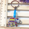 Advertising Gift - Metal Elephant Glitter Enamel Strap Keychain