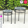 S/2 Mosaic Round Planter Stand with Pl08-5713