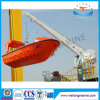 Single Arm Slewing Boat Davit for Life Raft & Rescue Boat with Crane