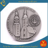 Custom Antique Silver Challenge Souvenir Building Coin