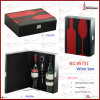 Wine Box in Bottle & Glass Shape Leather Wine Carrier (5731)