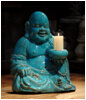 Smiling Buddha with Candle for Home Furnishing Decor