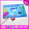 2015 Interesting Toy Fish Toy for Kid, Funny Wooden Toy Fish Toy for Children, Hot Sale Magnetic Fishing Set Toy Wholesale W01A067