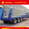 3axles 40-60foot Lowboy and Low Bed Semi Trailer
