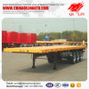 3 Axles 40FT Flatbed Semi Trailer for Tractor Truck