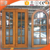 Round-Top Solid Cherry/Pine/Larch/Oak/Teak Wood Casement Window