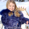 Fashion Children Faux Mink Fur Coat