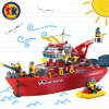 Plastic Fire Rescue Ship Blocks Toy for Kids
