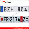 Euro Europe Car License Plate (Sweden, Switzerland)