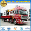 Auman 8X4 Heavy Duty Cargo Truck Mounted with 14 T Telescopic Crane