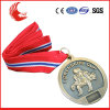 Zinc Alloy Material Custom Metal Medal with Velvet Medal Box