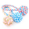 "Multipet Nuts for Knots Heavy Duty Rope Dog Toy with Tug 4"" Colors Vary"