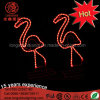 Waterproof Garden Ornaments Pink LED 2D Flamingo Sculpture Neon Motif Lights for Christmas