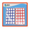 Blue and Red Grid Blank Label
