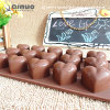 Fiveteen Heart Shape Silicone Chocolate Mold for Wedding Feast