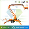 12m Mobile Light Duty Street Light Trailed Portable Man Boom Lift