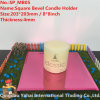 4mm Pink Bevel Glass Mirror Candle Holder