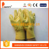 Ddsafety 2017 Yellow Nitrile Fully Coating Gloves with Cotton Liner
