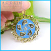 Hongkong Bauhinia Flag Gold Plated Necklace Pendant Wholoesale #14600