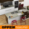 Modern Lacquer Wooden Modular Kitchen Cabinets with Island (OP16-L04)