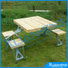 Smooth Top Wooden Surface Folding Table and Bench