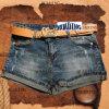 Simple Casual Women′s Denim Short Jeans (Light Black/HDLJ0016)
