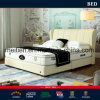 Modern Genuine Leather White Bedroom Leather Bed (1807)