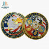 Custom Zinc Alloy Debossed with Paint Color Metal Challenge Navy Coin (JIABO-1057)