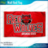 Quality Polyester Printing Red Wolf Flag