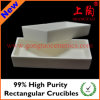 99% High Purity Rectangular Crucibles