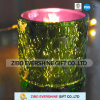 Wholesale Electroplating Anaglyph Colorful Glass Candlestick