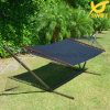 Black 100% Hand Woven Rope Hammock with Steel Stand