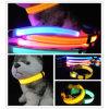 Waterproof Red Webbing Nylon LED Flashing Pet Safe Collar