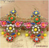 Spring Fashion Jewelry Crystal Alloy Earring Earrings for Women Antique Bronze Plated Environmental Friendly (PE-022)
