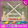 New Design Childhood Play Toy Wooden Fishing Boat Toy W01A193
