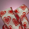 Polka DOT Hearts Wired Satin Ribbon