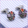 VAGULA Super Quality CZ Rhinestone Cuffs Gemelos Cuff Links Crystal Cufflinks 381