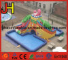 Funny Crocodile Commercial Inflatable Water Slide with Pool for Sale