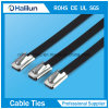 PVC Stainless Steel Ball Lock Cable Tie in Brown Color
